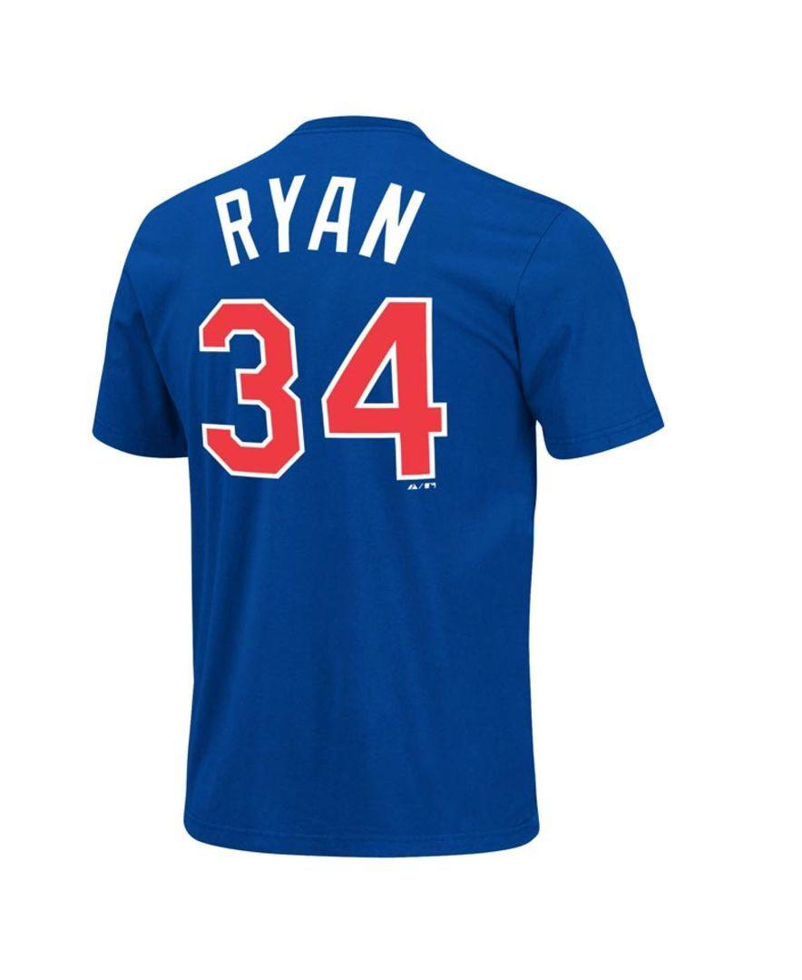 Majestic Men's Texas Rangers Cooperstown Player Nolan Ryan T-Shirt