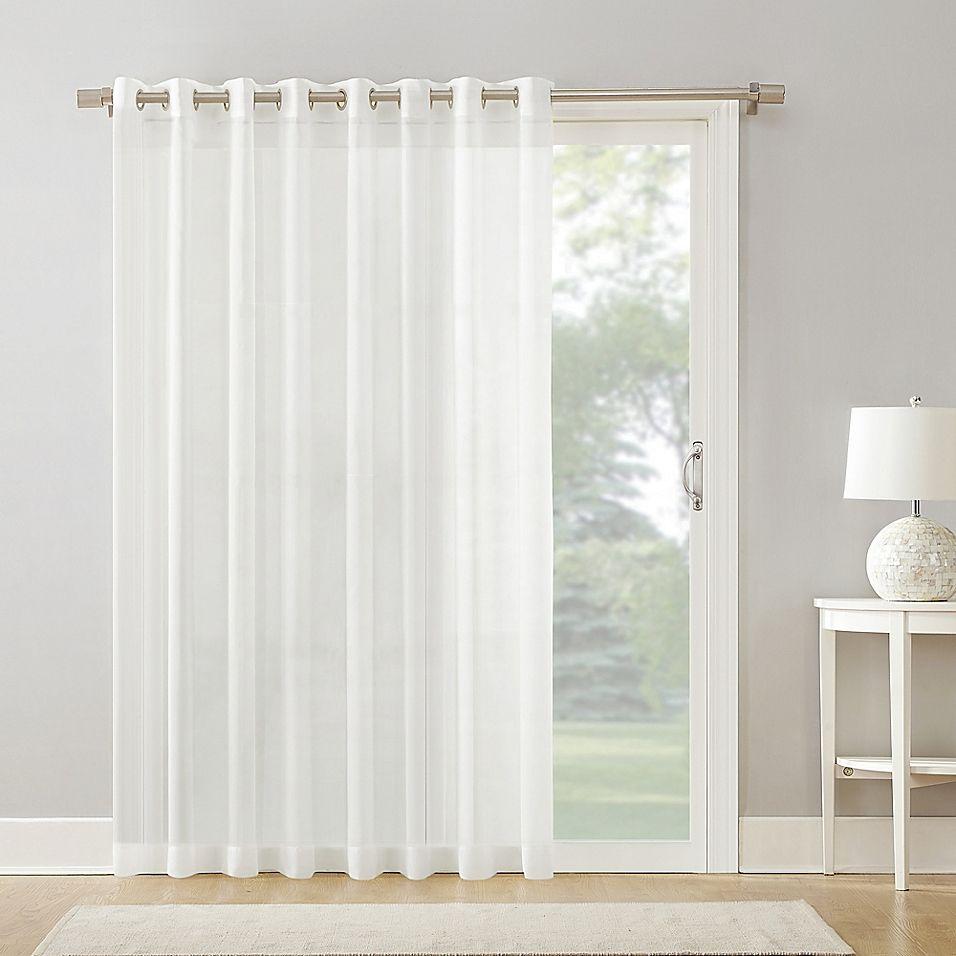 Armin Sheer Voile 84 Grommet Extra Wide Door Curtain Panel In White Panel Curtains Door Curtains Door Panel Curtains