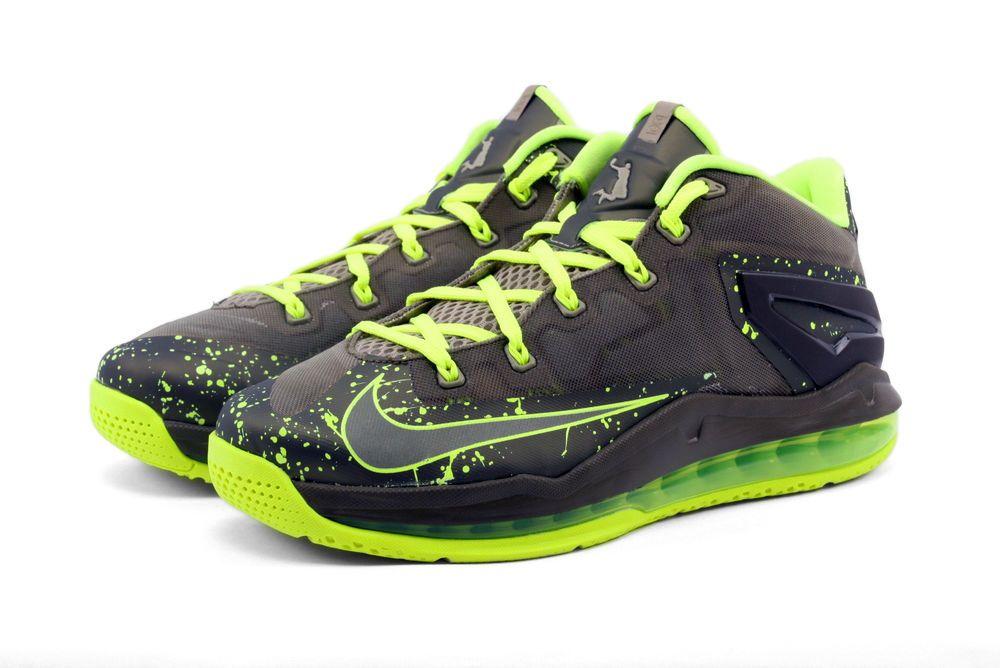 sports shoes 254d8 816be NIKE AIR MAX LEBRON SHOES XI 11 LOW SZ 9.5 MENS KAHKI VOLT OLIVE 642849-200  NEW  Nike  BasketballShoes