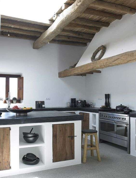 Idee Per Arredare La Cucina In Stile Rustico Con Immagini Mobili Rustici Da Cucina Cucina In Muratura Decorazione Cucina
