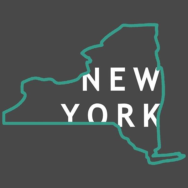 New York State Shape Sticker Outline Black State Shapes New York State New York