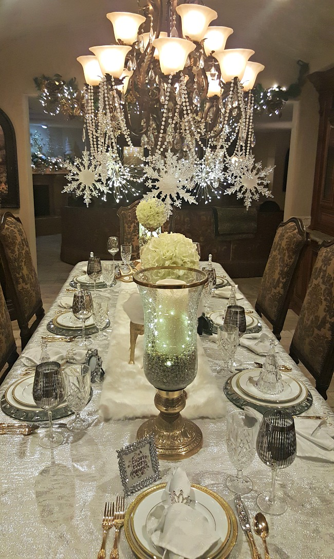 Winter White And Silver Table Silver Table Settings Silver