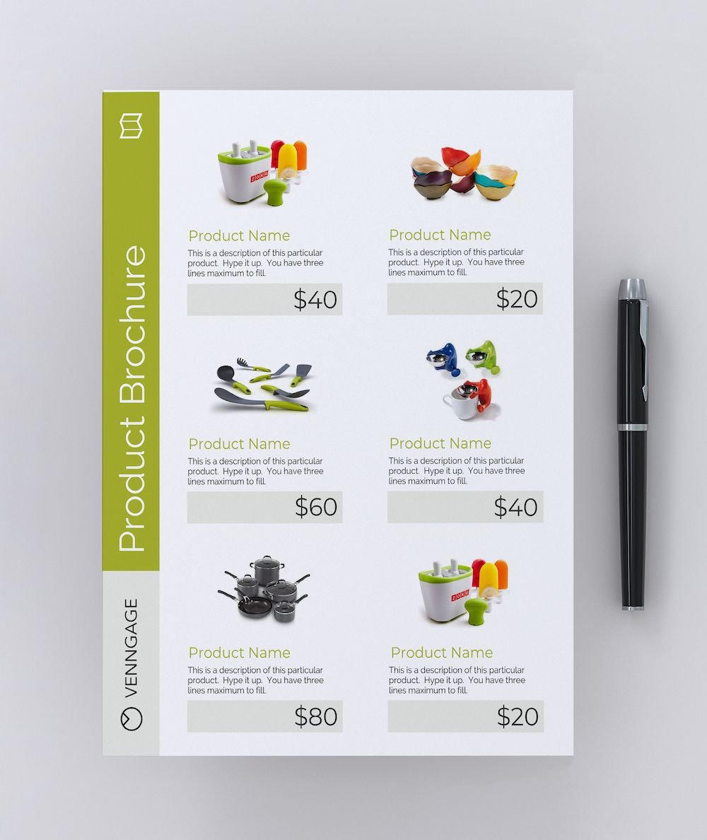 35 Highly Shareable Product Flyer Templates Tips Venngage Graphic Design Flyer Brochure Design Layout Catalog Design Layout