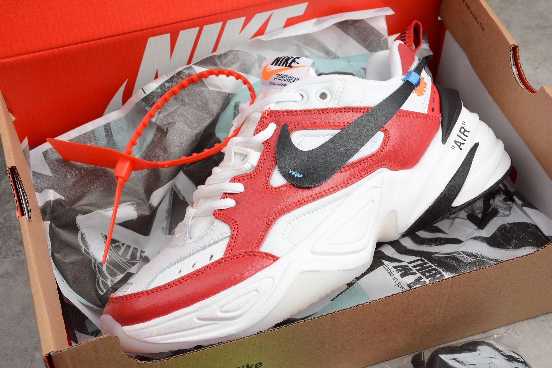 578ca36a66a Latest OFF-WHITE x Nike M2K Tekno Red White Black A03108-060