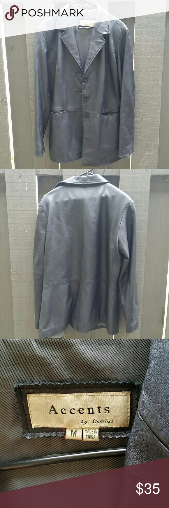 Accents By Comint Leather Jacket Size Medium Excellent Condition A Couple Of Tiny Spots On Back 100 Genuine Le Clothes Design Leather Jacket Fashion Design [ 1740 x 580 Pixel ]