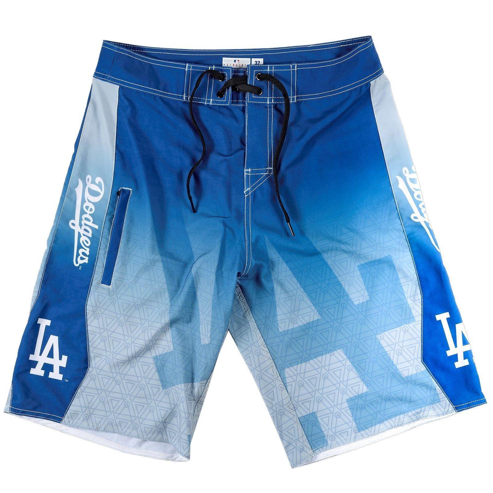 La Dodgers Mens Swim Trunks With Images Dodgers Los Angeles Dodgers La Dodgers