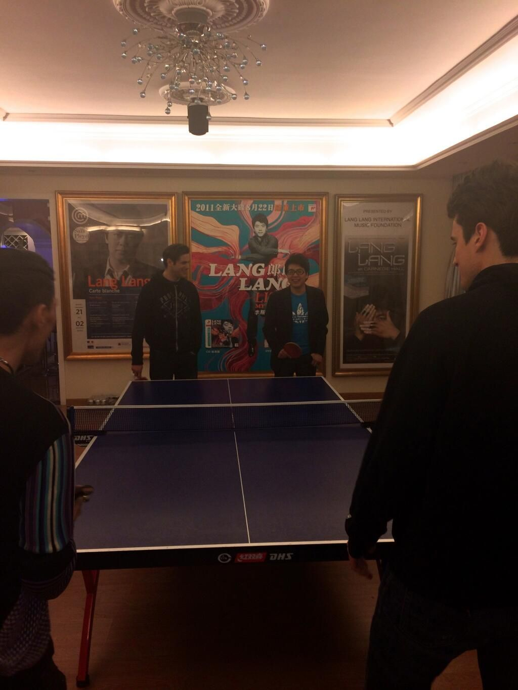 Playing PingPong against lang_lang yesterday was a real