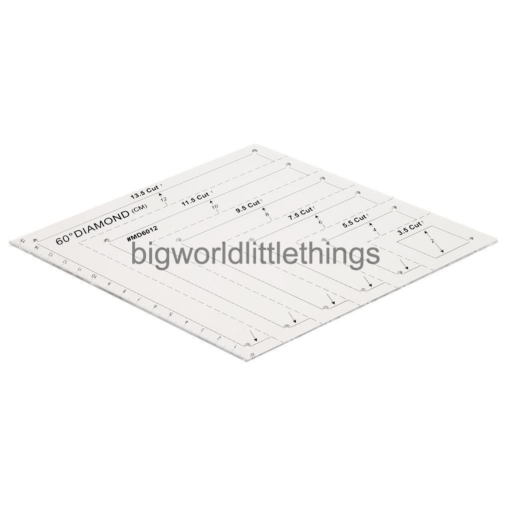 60 Degree Diamond Rhombus Quilting Patchwork Ruler Template for Sewing Craft