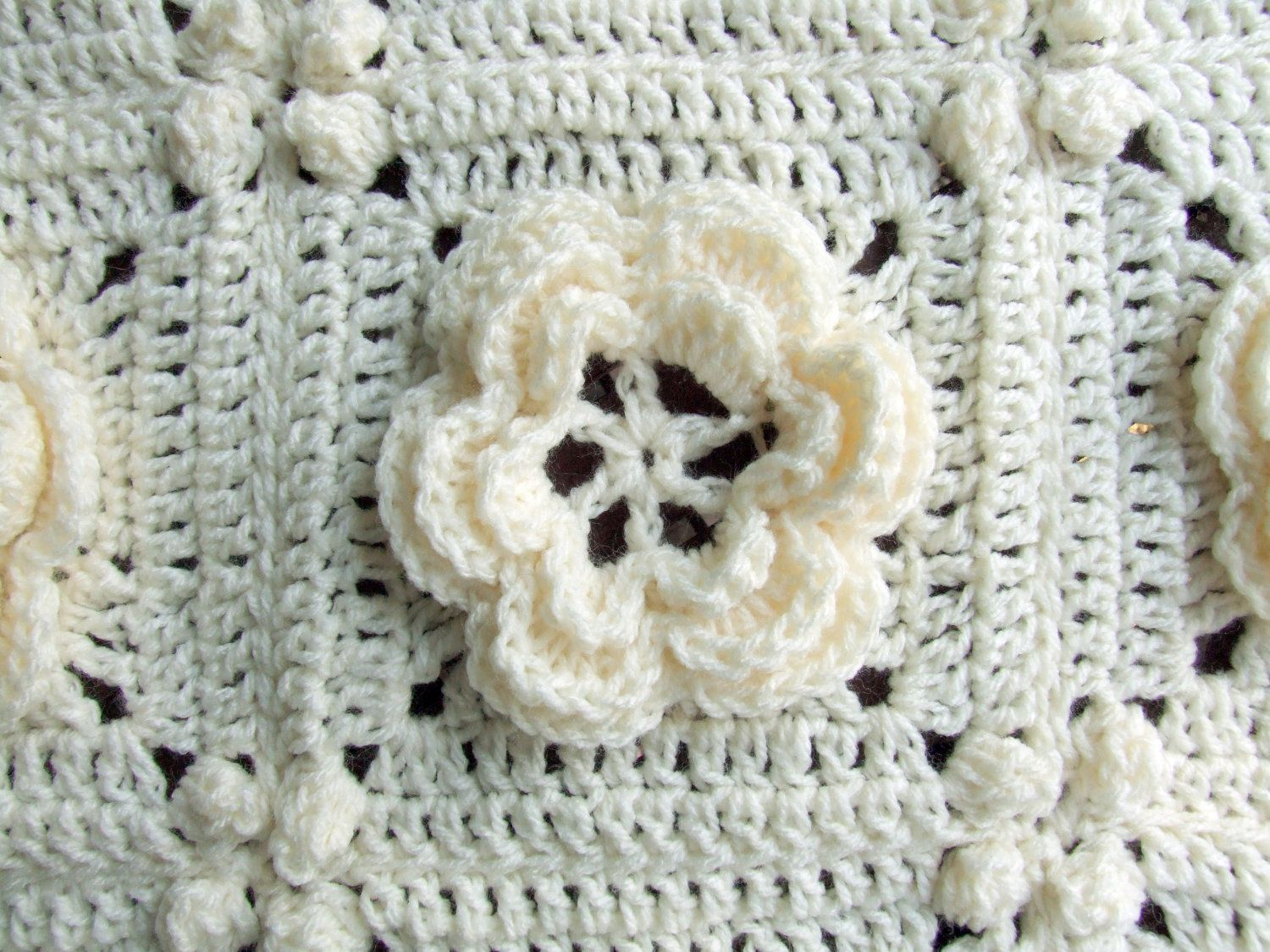 Crochet Pattern - Rosanna - Granny Square / Afghan Block - Irish ...