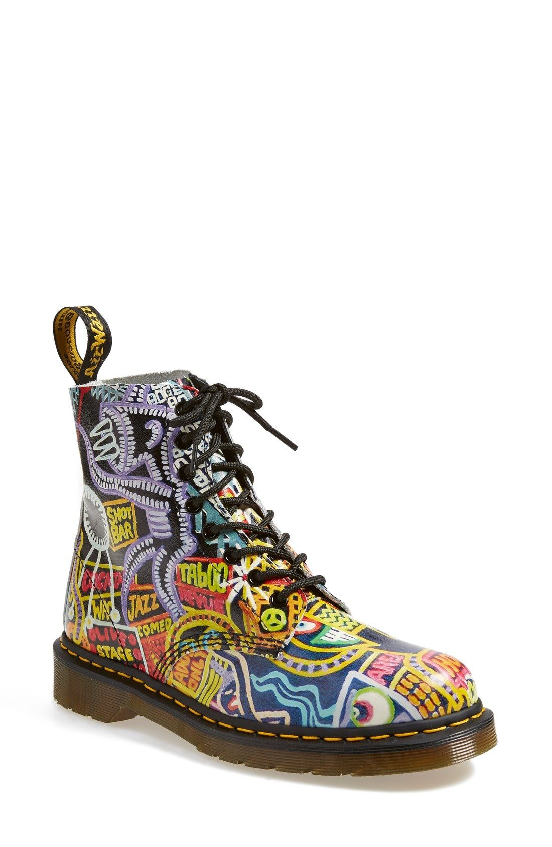 be675f1ba6d13 Dr. Martens 'Pascal' Multi Kaboom Print Boot (Women) available at #Nordstrom
