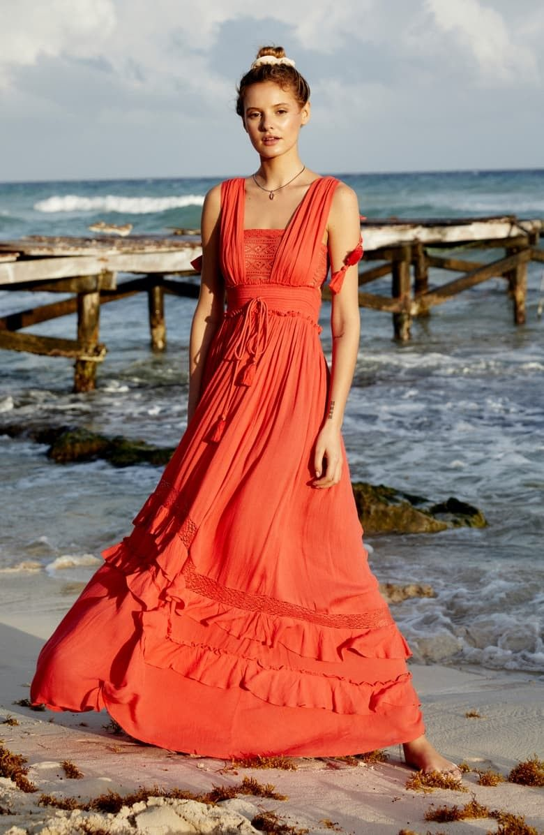 Endless Summer By Free People Santa Maria Maxi Dress Ropa Bohemio Amigurumi [ 1196 x 780 Pixel ]