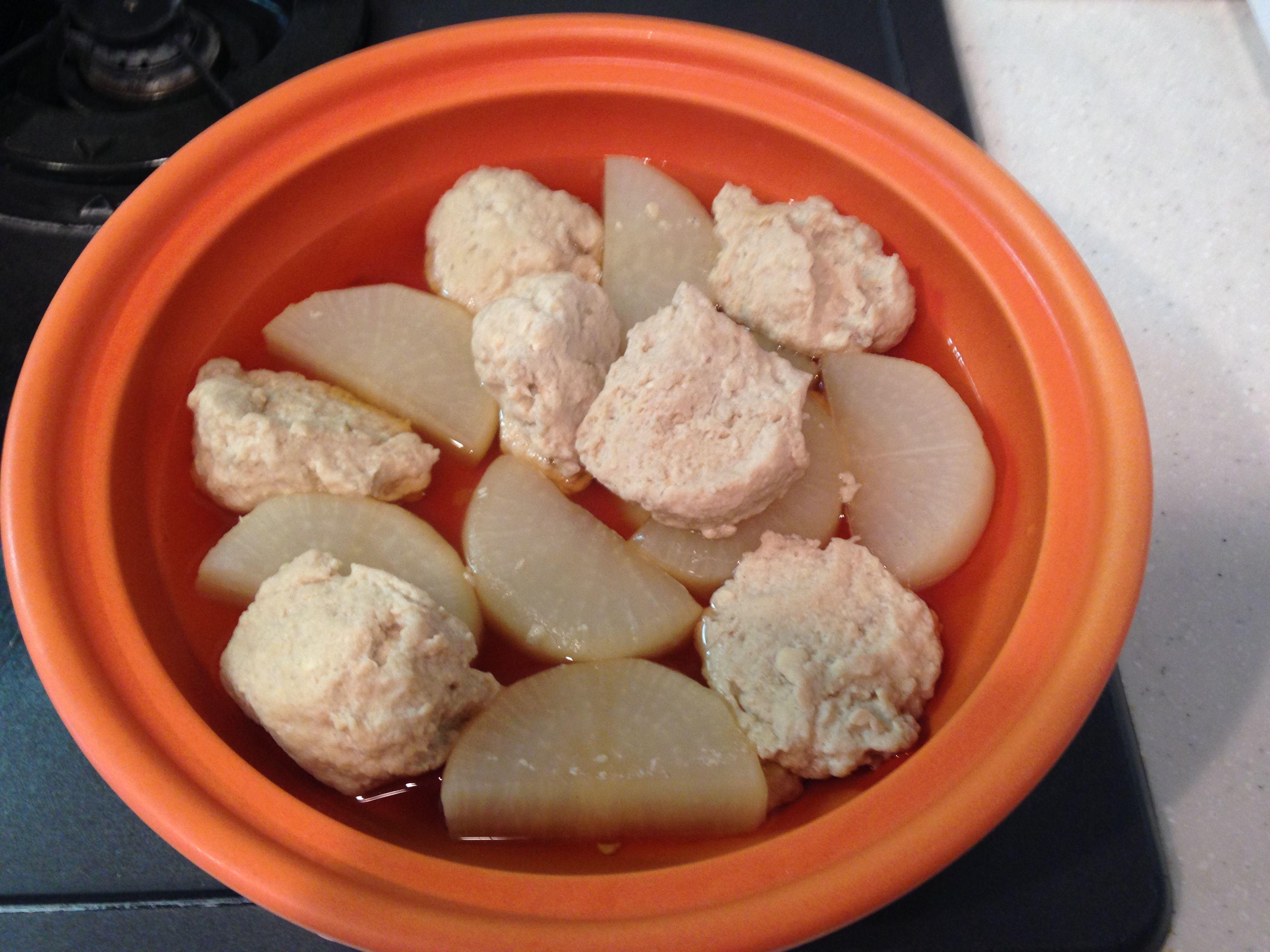 コノシロのつみれと大根の煮物