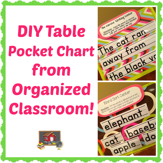 Make Your Own Table Top Pocket Chart The Organized Clroom Blog Who Knew It Was This Easy I See Little Charts In My Future