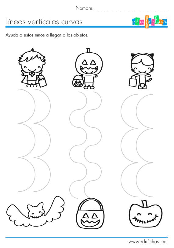 Descarga actividades de grafomotricidad de Halloween. Ejercicios ...