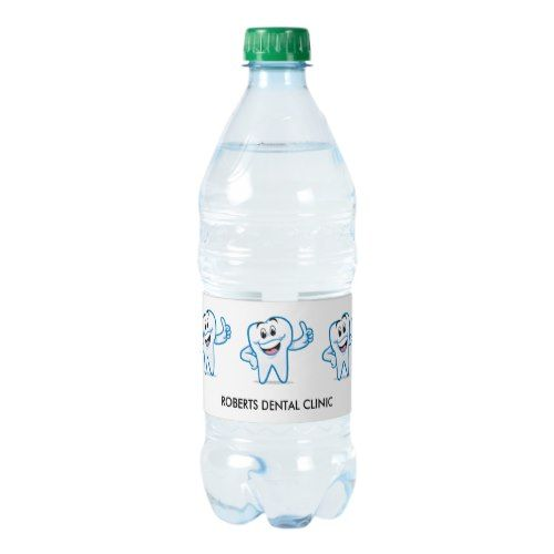 Dentist Tooth Water Bottle Labels