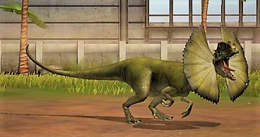 Dilophosaurus in 2020 Jurassic world, Dilophosaurus