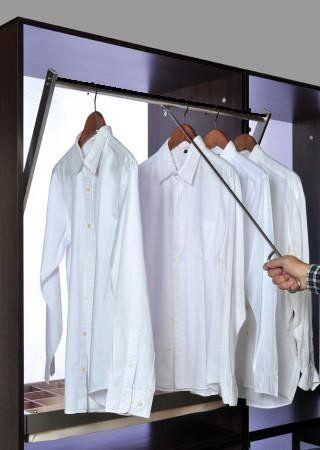 Professional Closet Pull Down 42 Adjustable Satin Nic Closet Rod Closet Hacks Organizing Ultimate Closet