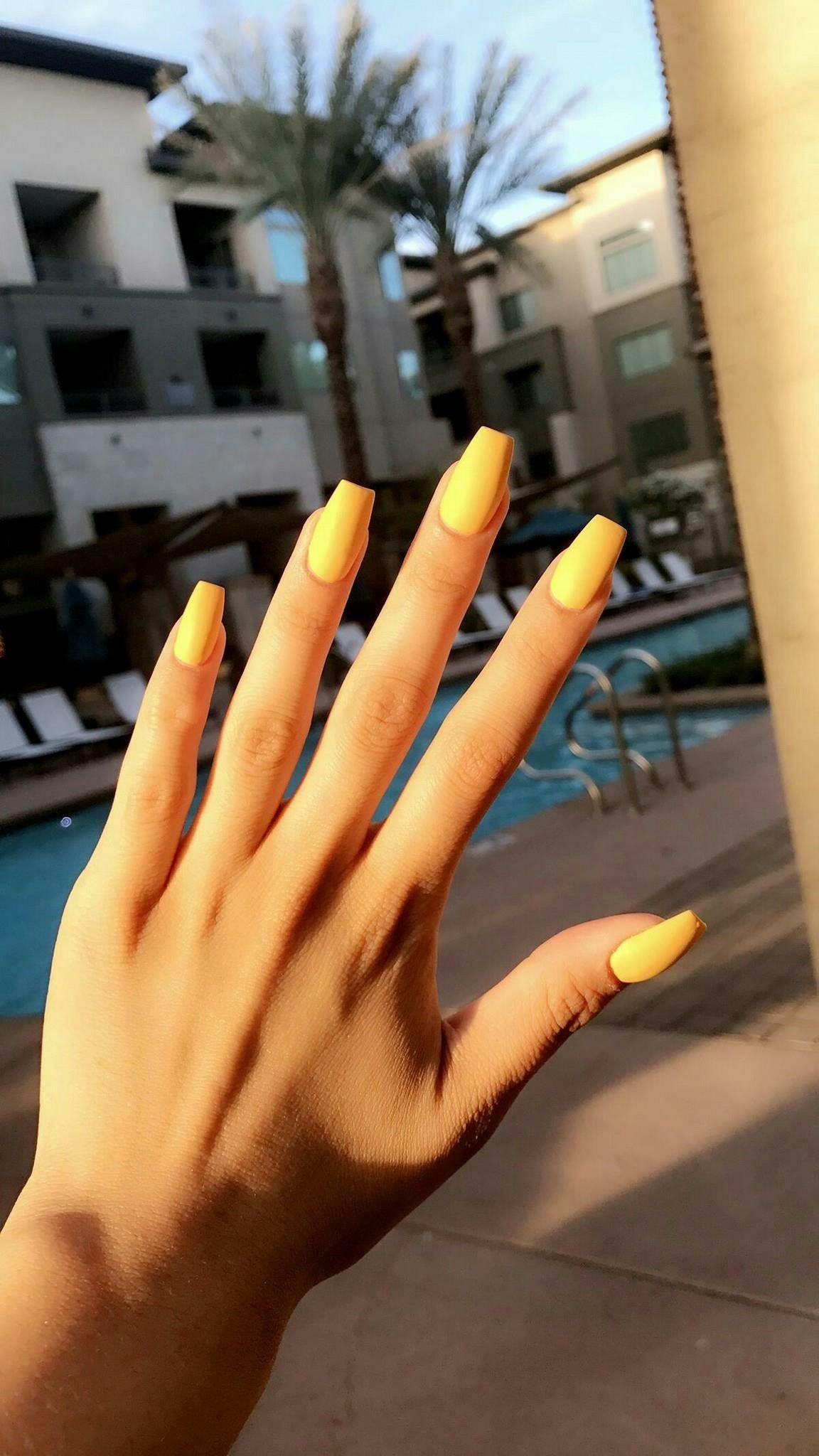 Pinterest Kristelmendoza Nails Unas Amarillas