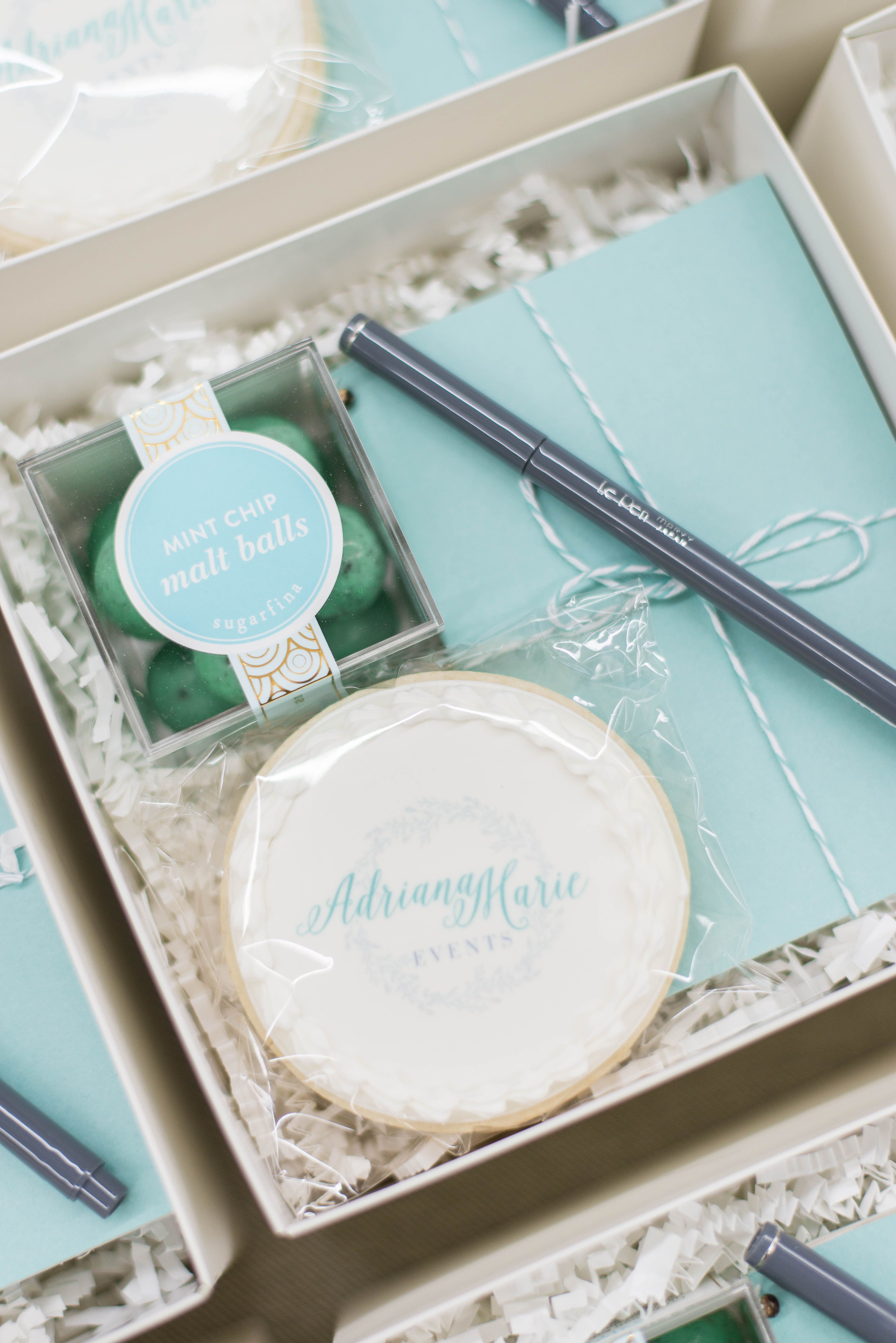 Client Gifts for Adriana Marie Events Planners Box and Gift