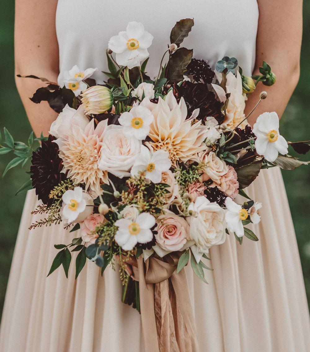 Intimate autumn ciderhouse wedding susan colin in 2018 bouquets fall dahlia bouquet izmirmasajfo