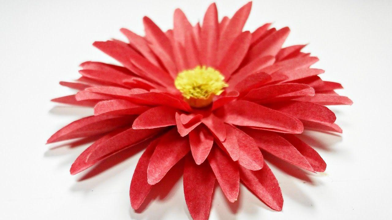Dahlia Paper Flower Diy Making Tutorial Paper Flowers Easy For
