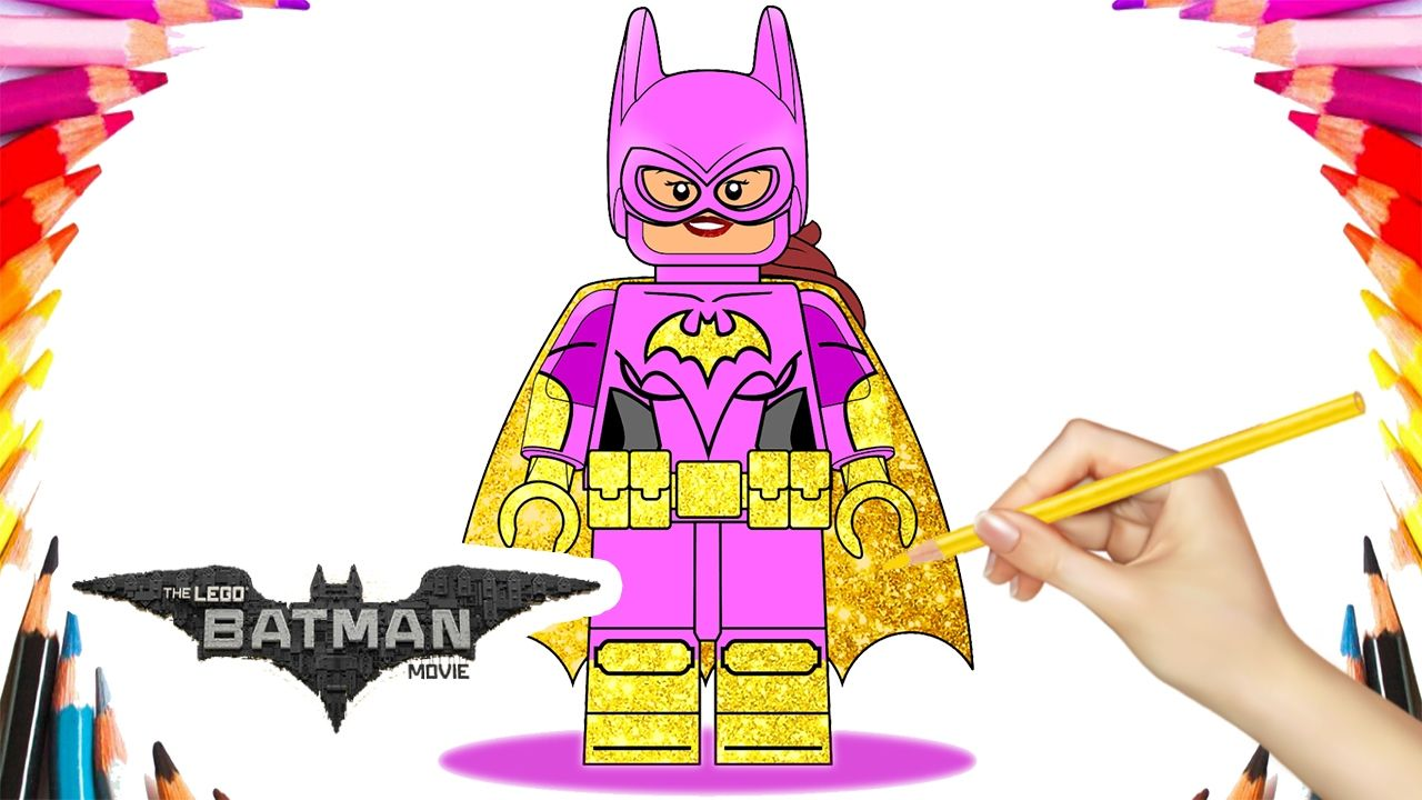The LEGO Batman Movie Lego Batgirl Coloring Book Pages