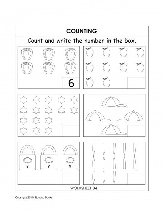 Kindergarten number worksheets – Counting Numbers Worksheets for Kindergarten