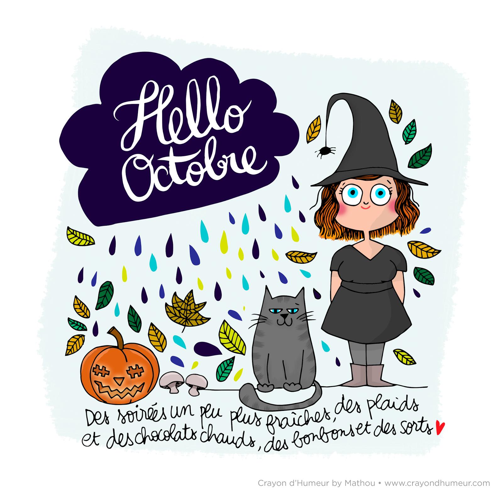 Mathou fait son crayon dhumeur journal maison journal creatif calendrier octobre