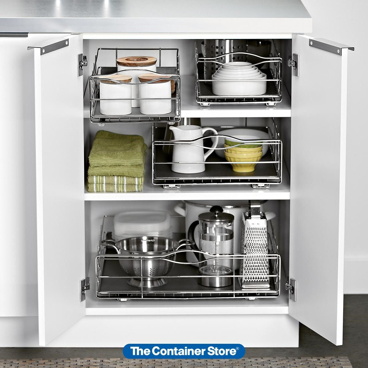 Our Simplehuman Pull Out Cabinet Organizer Is Just Right For Use In Your Lower Kitchen Cabinets For Ea In 2020 Diy Kitchen Kitchen Organization Diy Diy Kitchen Storage