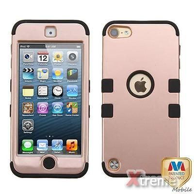 new style 6ab01 1d8a7 XM-Rose Gold/Blk TUFF Hybrid Case Cover For APPLE iPod Touch(6th/5th ...
