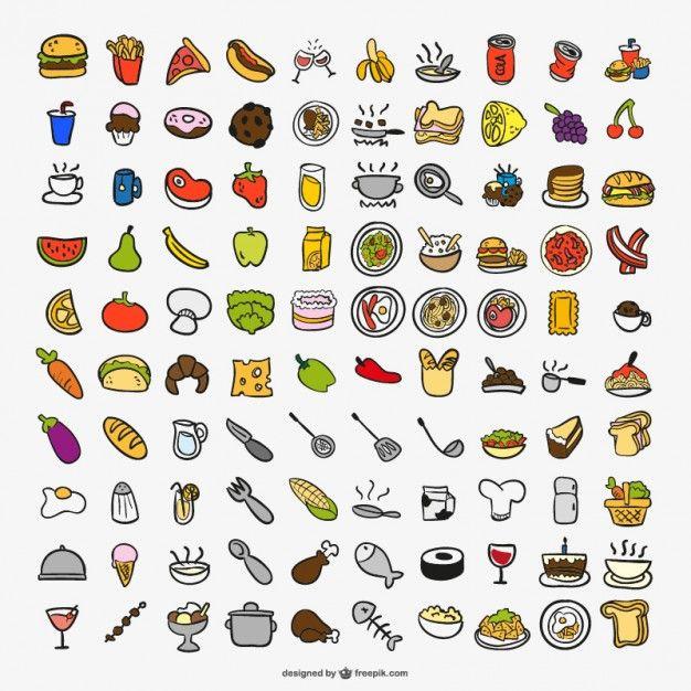 Iconos de cocina vector gratis food design pinterest for Diseno cocinas gratis espanol