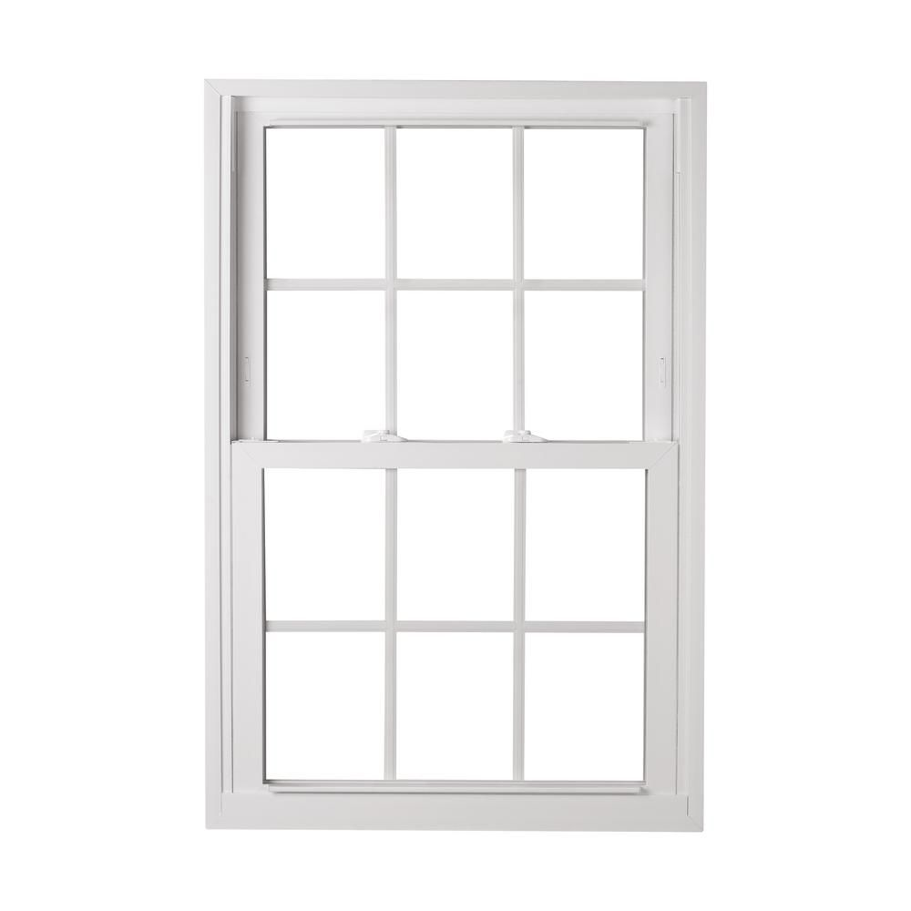American Craftsman 30 5 In X 48 25 In 70 Pro Double Hung Buck Vinyl Window With Grille In White Window Vinyl Double Hung American Craftsman