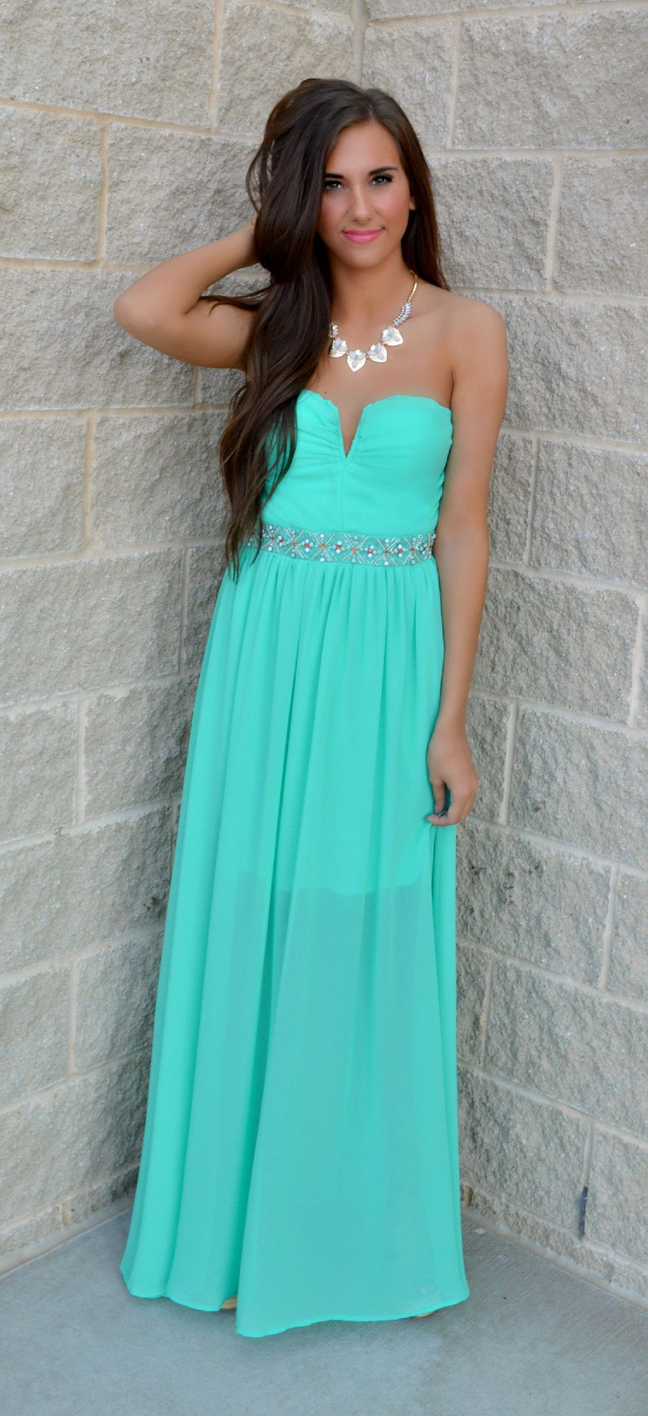 Teal The Tides Turn Maxi Dress from Haute Pink Boutique | HAUTE New ...