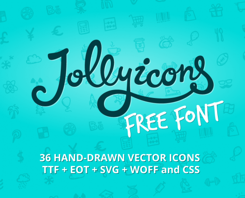 Jolly Icons Free Font — free handdrawn icon font http