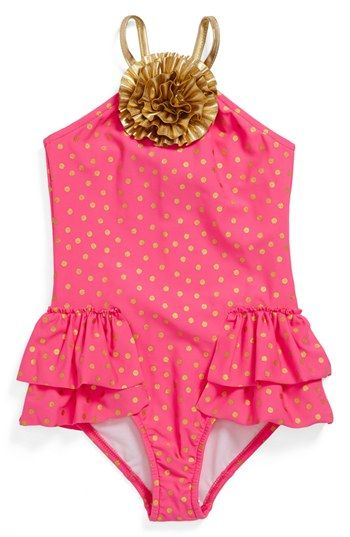 Love U Lots One-Piece Swimsuit (Little Girls) available at #Nordstrom