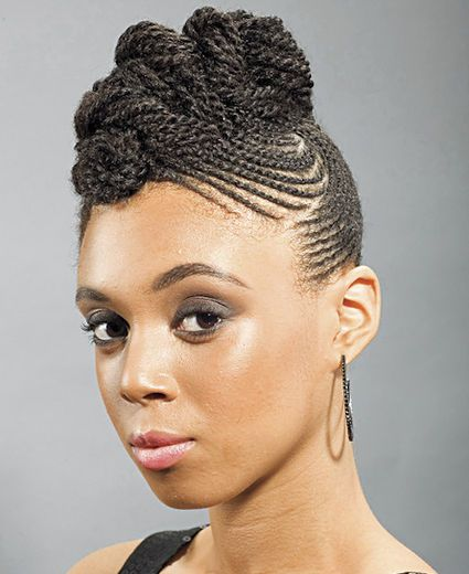 Braided Up Do Braided Hairstyles Natural Hair Styles African Braids Hairstyles