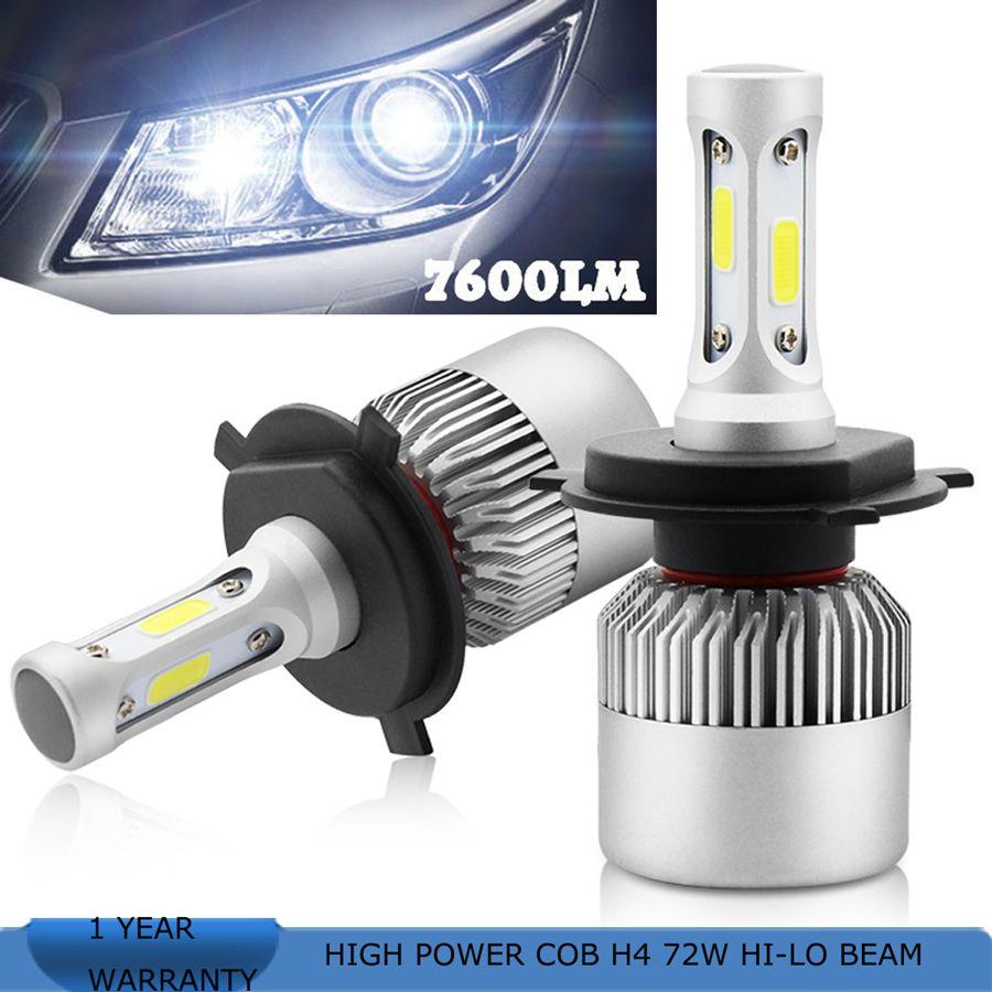 Playlamps H7 Cob Led Car Headlight Bulb Kit 72w 8000lm Auto Front Light H7 Fog Light Bulbs 6000k 12v Led Automoti Car Headlight Bulbs Car Lights Car Headlights