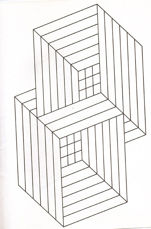 optical illusion coloring page   optical illusion   Pinterest ...