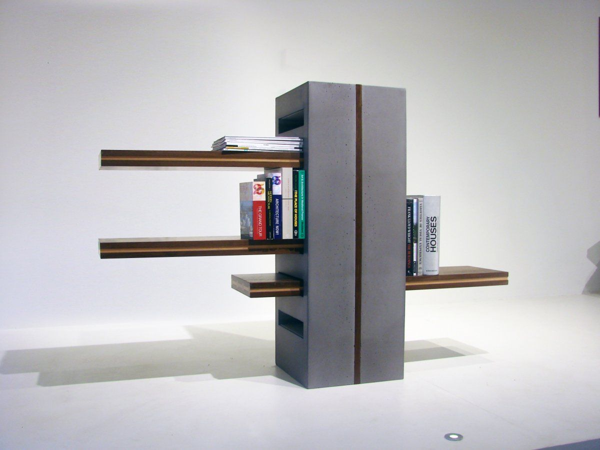 Cool Concrete And Wood Contemporary Cinder Block Shelvesby Rahim Tejani Of  Rock Paper Tree Featuring Gray Cinder Block Shelves And Wooden Lamnated  Shelves