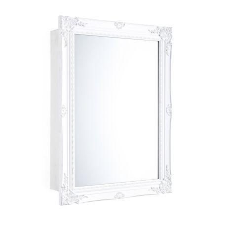 Spiegelschrank, Schiebetür, zwei Innenfächer, Holz Vorderansicht ...