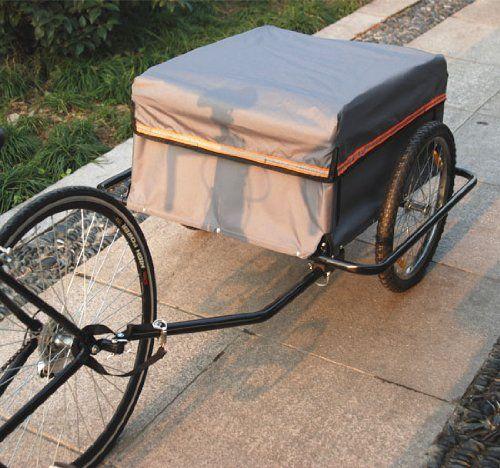 Outsunny - Carrello per bici Rimorchio per bicicletta CargoTrailer