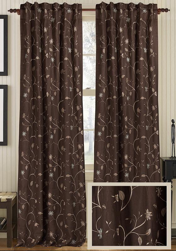 Danielle Curtain Panel   Home Decorators
