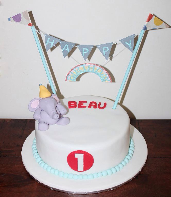 My little boys 1st birthday cake so easy and very effective Cake
