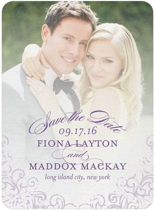 Dazzling Lace - Signature White Photo Save the Date Cards - Sarah Hawkins Designs - Gunmetal - Gray : Front