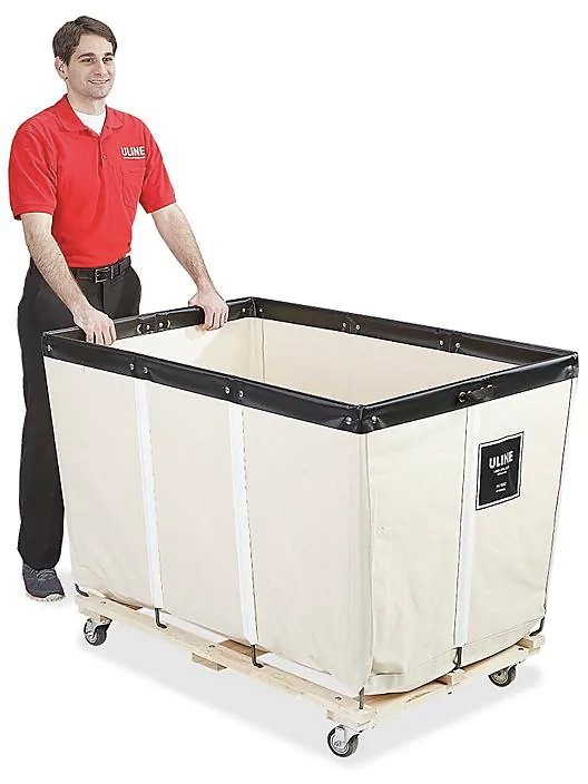 Canvas Basket Truck 20 Bushel H 1582 Uline
