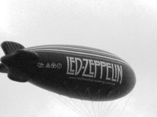 AIRSHIP BALLOON PRINT IMAGE PHOTO -G10 Rare New Decal LED ZEPPELIN STICKER