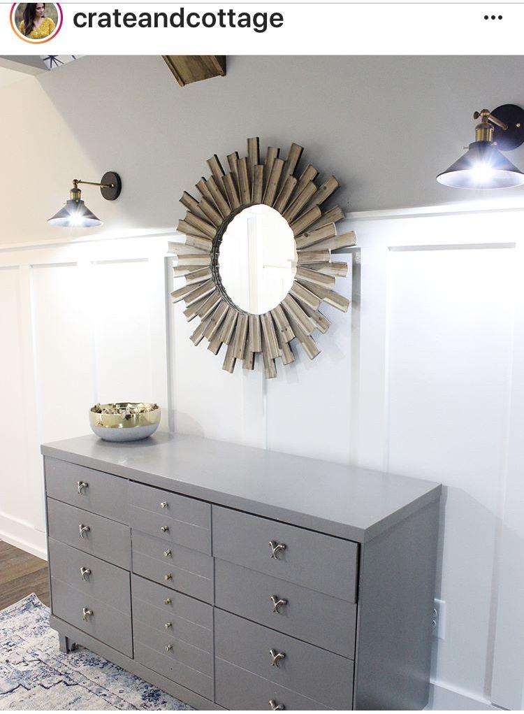 Sw Alabaster White Walls Sw Gauntlet Gray Dresser Alabaster