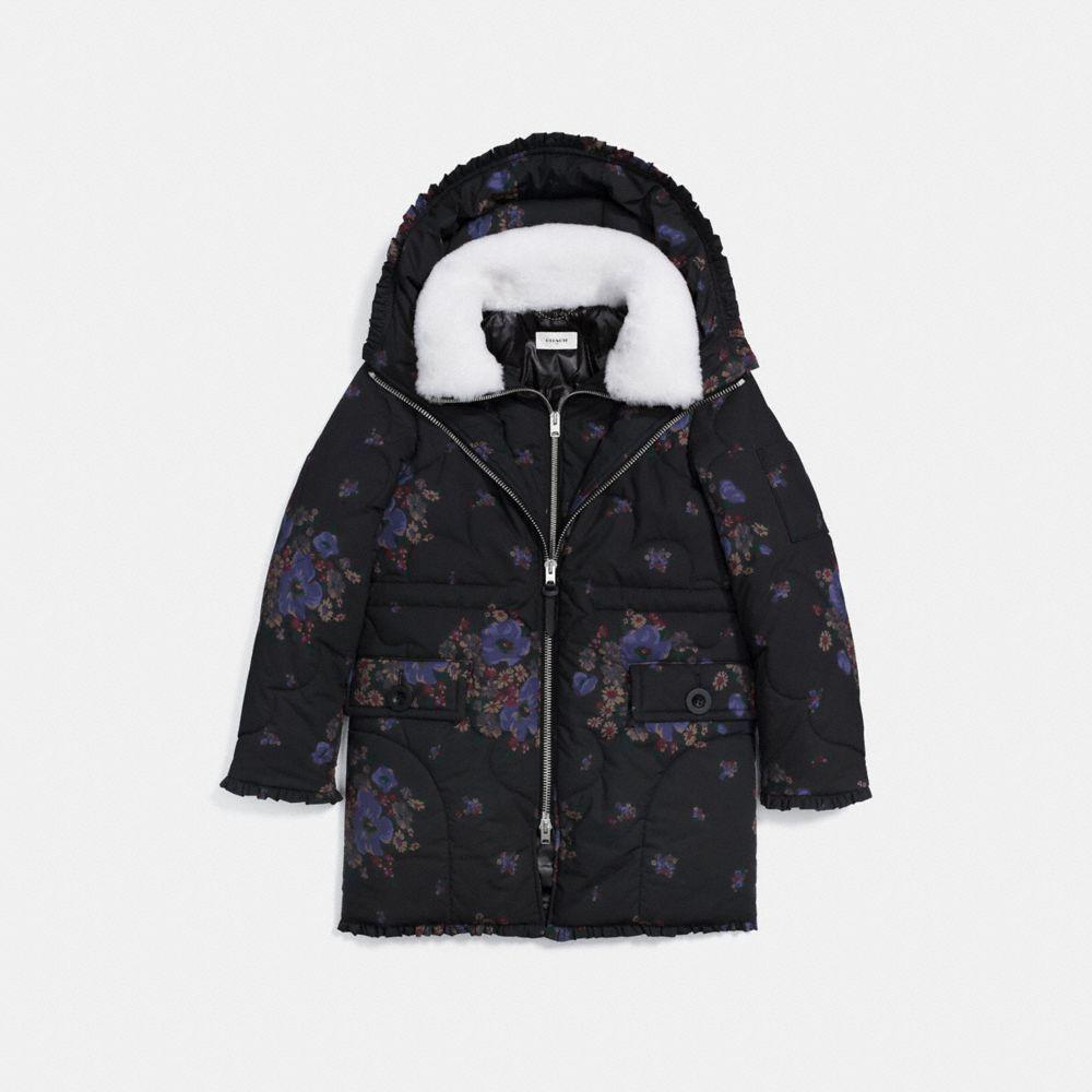 Coach Eiderdown Printed Puffer Jacket 06 Jackets Puffer Jacket Women Puffer Jackets [ 1000 x 1000 Pixel ]