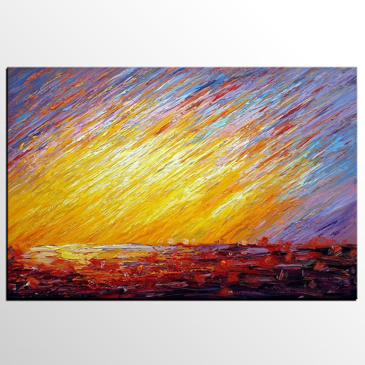 Abstract Landscape Painting, Large Art, Canvas Art, Wall Art ...