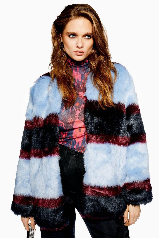 3d48b617490 Colour Block Faux Fur Jacket by YAS | TopShop | Faux fur jacket, Fur ...